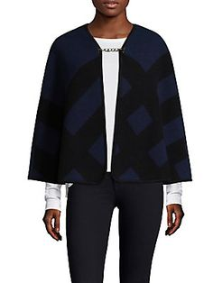 Burberry Traditional Equestrian Check Poncho