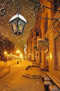 Snowy night in Moscow Russia. I've always wanted to visit Russia in the winter. Winter Szenen, I Love Winter, Winter Time, Winter Night, Moscow Winter, Snow Night, Winter Fairy, Winter Travel, Night In