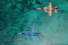 Las espectaculares fotos captadas desde el asiento de un F-5 Tiger
