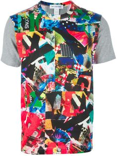 COMME DES GARÇONS Gray Comme Des Garçons Shirt Printed Tshirt