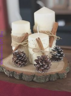 70 simple and popular christmas decorations table decorations christmas candles diy christmas centerpiece christmas crafts christmas … Centerpiece Christmas, Homemade Christmas Decorations, Christmas Table Settings, Christmas Candles, Diy Christmas Ornaments, Christmas Themes, Centerpiece Ideas, Christmas Lights, Winter Table Centerpieces