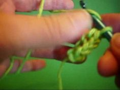 How to crochet a double chain. Making a chain row & slip stitch row at the same time. also known as a foundation slip stitch (fslst or fss). Crocheting a bra. Crochet Chain, Crochet Buttons, Double Crochet, Knit Crochet, Crochet Tutorials, Crochet Videos, Crochet Projects, Crochet Stitches Patterns, Stitch Patterns