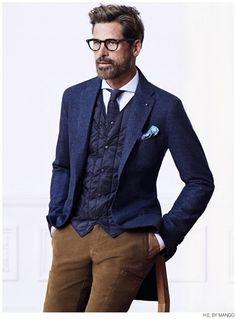 Mark Vanderloo Models Winter 2014 Suits + Sportswear for H.E. by Mango image HE by Mango Winter 2014 Suiting Mark Vanderloo 005 800x1084