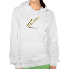 Hoodie with illustration of a trombone