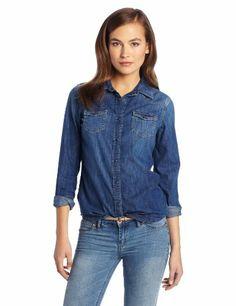 606c4045e5659 51 Best Denim Shirts Outfit   Women s Dress Fashion images