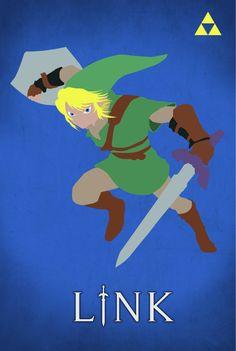 Legend of Zelda Link Poster by BrickerDesigns on Etsy