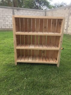 Beautiful Beautiful Pallet Bookcase  #design #entrance #homedécor #kids #livingroom #lobby #palletbookcase #palletbookshelf #palletdiyideas #palletfurniture #recyclingwoodpallets I made this Beautiful Pallet Bookcase using three pallets and 5 hours of time. I made this because a customer of ours needed it in their kindergarten ...