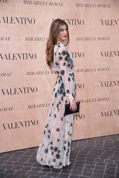 Bianca Brandolini D'Adda in a Valentino dress from the Spring/ Summer 2013 collection to the Mirabilia Romae Haute Couture Show, on July 9th 2015.