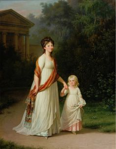 1790s Jens Jørgensen Juel - Marie-Sophie-Frederikke, Princess of Denmark and her daughter Princess Caroline