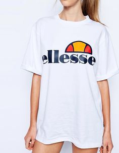 Buy Ellesse Oversized Boyfriend T-Shirt With Front Logo at ASOS. Get the latest trends with ASOS now. Bad Fashion, Yoga Fashion, Ellesse, Pretty Outfits, Cute Outfits, Asos, Kawaii, Boyfriend T Shirt, Models