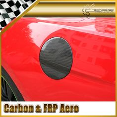 65.00$  Buy now - http://ali545.worldwells.pw/go.php?t=32523883632 - Car-styling For Ford 2015 Mustang Carbon Fiber Gas Fuel Cap Cover In Stock