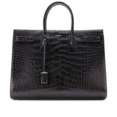 Saint Laurent Sac De Jour Alligator Tote _  Wanna get that new look this season ? well what do you think of this ?  Thanks for the new follow. Keep current, informed, trendy-https://www.facebook.com/WhitesandsSecretGarden