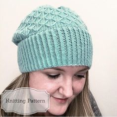 """The Marcia Slouchy Beanie Knitting Pattern! This hat is designed to fit any head circumference from 18-24"""" with a bit of slouch. It includes directions to modify the pattern to have a more fitted or more slouchy style. It is knit in the round using Sugar Bush Yarns Bold, but this can"""