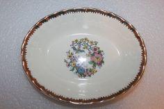 B8 Vintage Cronin China Co Oval Serving Bowl by CRAZYMARYSFINDS