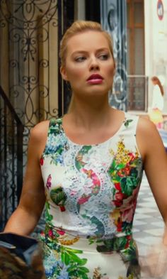 Dolce and Gabbana Lace Overlay Panel Floral Print Top as seen on Jess Barrett in Focus   TheTake