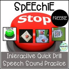 Speechie Stop Interactive Quick Drill Speech Sound Practice FREEBIETry out this interactive quick drill speech sound practice activity using QR codes to mimic the new trendy app-based game which has children of all ages going and stopping to collect items!Suggested Prep:To create your Speechie Stop locations, print pages 3-10 and place in sheet protectors (or laminate).