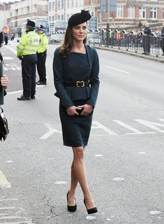 (Kate Middleton) arrive at Leicester City Station as part of The Queen's Diamond Jubilee Tour on March 8, 2012 in London, UK.