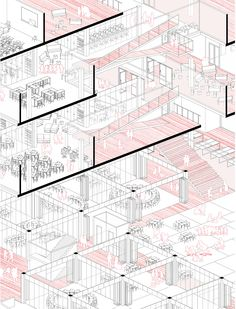 from Jaebong Jeon Portfoilo Presentation, Floor Plans, Architecture, Projects, Chicago, Landscape, Drawing, Ideas, Sketch