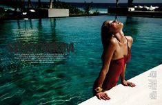 Seiji Fujimori swimwear editorial for Marie Claire Spain.