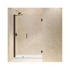 "DreamLine SHDR-20487210C Unidoor 72"" High x 49"" Wide Hinged Frameless Shower Doo Oil Rubbed Bronze Showers Shower Doors Hinged"