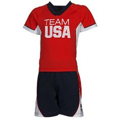 Get your little fan ready for the Olympics with this Team USA Shirt & Shorts Set for toddlers