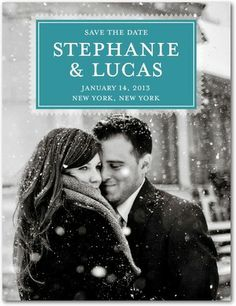 Stylish black and white save the date