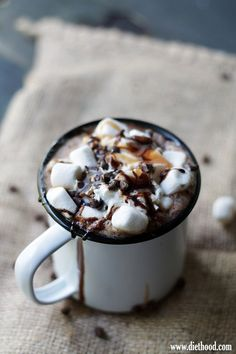 Spicy Hot Chocolate Mocha / Kate Petrovska | Diethood