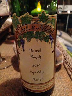 Nickel & Nickel Merlot Suscol Ranch 2010. Beyond delicious.
