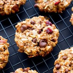 Dark Chocolate Almond Coconut Trail Mix Cookies (V, GF, DF): an easy recipe for chewy trail mix cookies bursting with chocolate, almond and coconut.