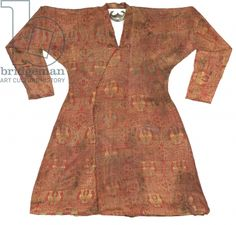 Brightly coloured Seljuk lampas robe, Central Asia, 11th - 12th century (silk) (see also 430215)
