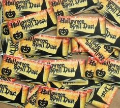 40 loose peel back mini Halloween Spell Dust stickers pumpkin broom witches hat…