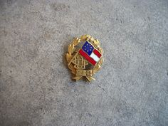 vintage UDC United Daughters of the Confederacy gold filled pin badge