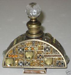 Crystal Encrusted Perfume Bottle Art Deco  #BookofLostFragrances #Suspense #Books