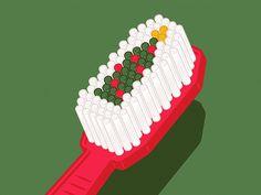Pearly White Christmas #illustration #design #inspiration