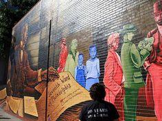 W.E.B DuBois Mural on South Street in Philly.
