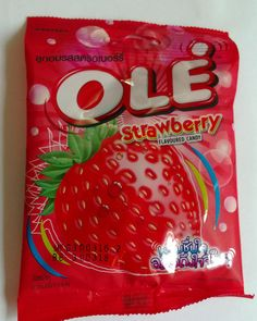 Candy Thai Red Ole Snack Thai Asia delicious Birthday Food Fresh Talk Straberry #Ole