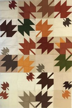 The idea for this quilt started by thinking I would make a fall version of my Delta Breeze quilt using my very favorite fabric, Oakshott ...