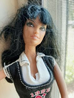 "Barbie doll BLACK hair 1998 Mattel 11 1/2"" tall VGUC #Mattel #Dolls"