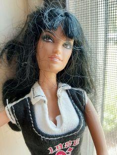 """Barbie doll BLACK hair 1998 Mattel 11 1/2"""" tall VGUC #Mattel #Dolls"""
