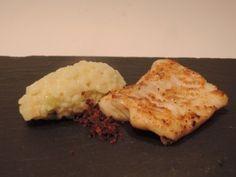 risotto met knolselder en schelvis