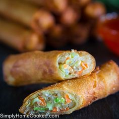 My mother's coworker from china shared this amazing spring roll recipe with us and we fell in love with it. We used to make these rolls using egg roll wrappers but after discovering spring roll wrappers we can't go back. The crunchy texture of fried spring rolls can't compare to egg rolls. I personally think...Read More