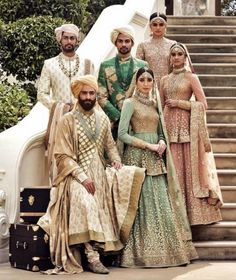 Find your wedding outfit from Sabyasachi Mukherjee SS 2016 indian bridal collection! From traditional lehengas to floral modern bridal options Indian Bridal Wear, Pakistani Bridal, Bridal Lehenga, Shaadi Lehenga, Sherwani, India Fashion, Asian Fashion, Style Fashion, Fashion Beauty