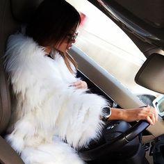 girl driving ♥ - car drive road trip roadtrip fashion fur  Fur & cars Добавь, ставь нравится, поделись. Add, Like, Share! #furonline #furfashion #furstyle