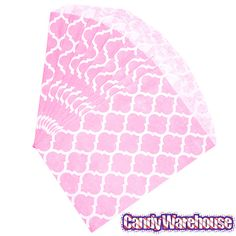 Just found Light Pink Casablanca Pattern Candy Bags: 25-Piece Pack @CandyWarehouse, Thanks for the #CandyAssist!