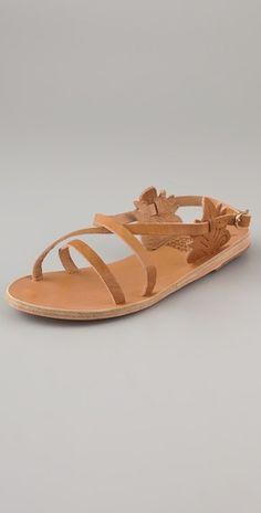 ancient.greek.sandals-athena crisscross flat sandals.