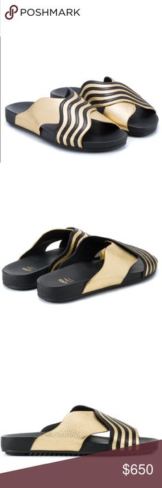 Fendi black and gold wave slides ‼️ 100% authentic‼️                                              disclaimer: NOT STOCK PHOTO's                          🚫NO TRADE.                                                   ‼️TRUE TO SIZE ‼️                                            Please consider original price when sending offers. Fendi Shoes Sandals