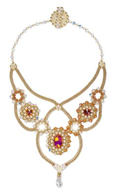 Jewelry Design - Bib-Style Necklace with Swarovski® Crystals and Seed Beads - Fire Mountain Gems and Beads