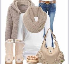Casual Outfit Tumblr Outfits. Hate the uggs but that sweater looks warm