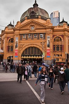 Australia-19   Flickr – Compartilhamento de fotos!  Flinders st Station  Melbourne