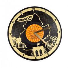 Morning Brooklyn Vibe: Vinyl Wall Clock